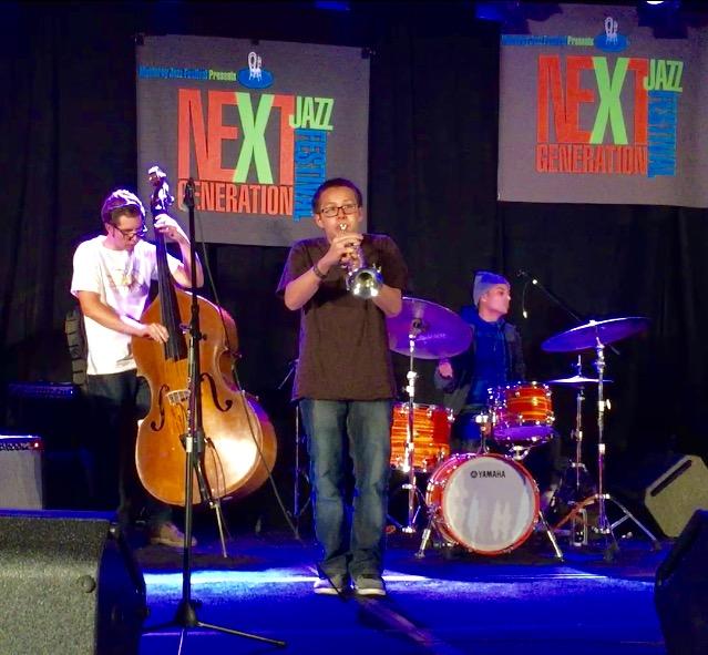 Bennett Phan, junior trumpeter, at jam session